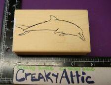 Dolphin Mammal Fish Rubber Stamp Stampourri Hindsley Creakyattic