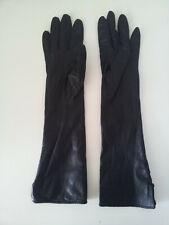 Vintage 50s Gimbels Elbow Length Size 6 1/2 100% Kid Leather Gloves - Silk-Lined