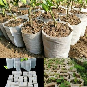 Different Sizes Biodegradable Non Woven Nursery Bags Plant Fabric Seedling Pots