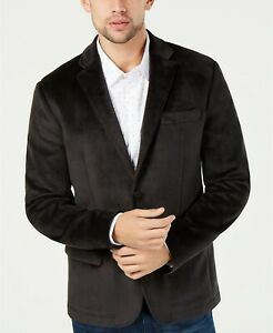 Kenneth Cole New York Men's Classic-Fit Knit Velvet Blazer, Size L, $169