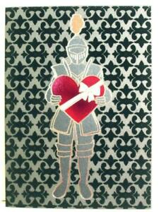 """Happily Ever After with You"" AVANTI Valentine's Day Card KNIGHT IN ARMOR"