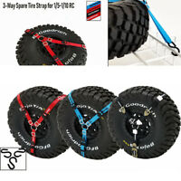 3-Point Spare Tire Tie Down Strap For Traxxas 4WD 1/5 1/10 Rock Crawler RC Car