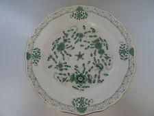 Meissen indisch grün reich Teller ca. 26,0cm  indische Malerei Goldrand 1.Wahl