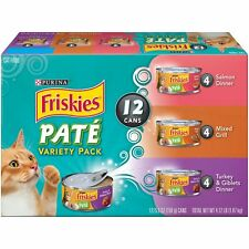 Cat Food Variety Pack Purina Friskies Classic Wet Pate Adult - 2 X 12 X5.5 ounce