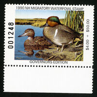 US Duck New Hampshire Stamps # 8b XF Governors edition OG NH Scott Value $62.50