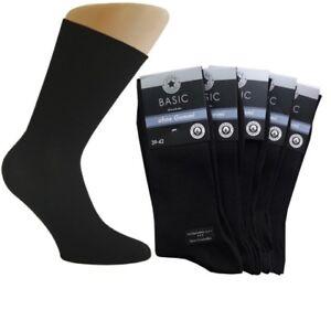 5 - 10 -15 - 25 PAAR Herren Gesundheits Socken ohne Gummi 100% Baumwolle schwarz