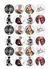 24 x Justin Bieber Cup Cake Toppers Rice / Wafer Paper
