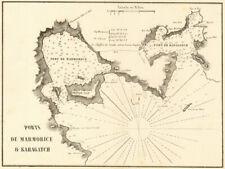 Marmaris & Karaagac. 'Ports de Marmorice & Karagatch'. Turkey. GAUTTIER 1854 map