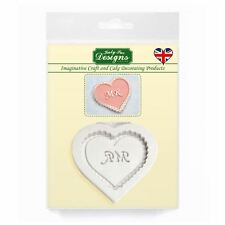 Cupcake Fondant glassa abbellimento TOPPER muffe: Signor Heart (wedding / San Valentino)