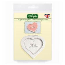 Cupcake Fondant Icing Embellishment Topper Mould: Mr Heart (Wedding/Valentines)