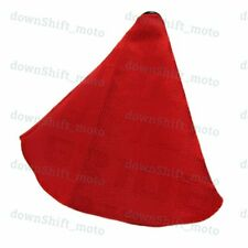 Red Stitches JDM Bride Racing Hyper Fabric shift knob Shifter Boot Cover MT/AT