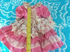 "Pretty Pink Dress that May Fit 15"" Slimmer Dolls Vintage Style"