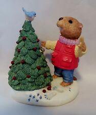 """1994 Hallmark Keepsake Ornament """"Eager for Christmas"""" Tender Touches Beaver MIB"""
