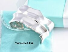 68dada54f RARE Tiffany & Co Sterling Silver Wide Leaf Bone Cuff Large Bracelet w/  Pouch