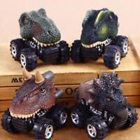 Mini Dinosaur Cars Pull Back Vehicle Toys Animal Toddlers Boys Baby Gift Yc