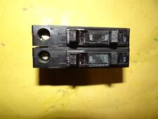 USED Square D QOT 1515 Tandem Circuit Breakers 15amp Plug On HACR Listed QTY (2)