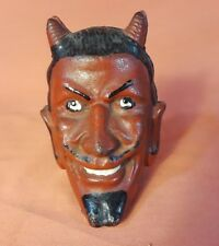 Antique Two-Faced Devil Cast Iron Still Bank