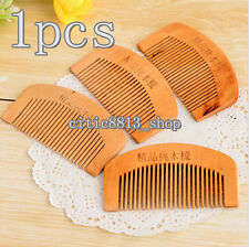 1XNatural Wide Tooth Wood Comb Peach Wood no-static Massage Hair Health Sale Hot