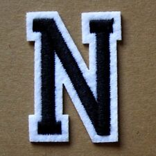 Letter N Patch Alphabet  Iron Sew On Applique Badge Motif