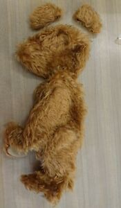 Partly made mohair jointed teddy bear. Needs joint ,eyes etc. Approx 38 cm.