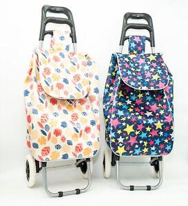 Shopping Pull Trolley Cart Bag Foldable Wheels Carts Bags Market Luggage Basket