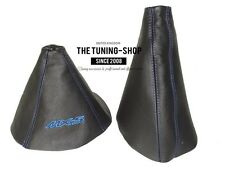 "For Mazda MX-5 MK3 05-12 Gear & Handbrake Gaiter Leather ""MX-5"" Blue Embroidery"