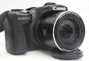 Canon Powershot SX500 IS Digital Camera 16.0MP - Black