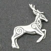 Keltischer Hirsch Anhänger 925er Silber Symbol Schmuck - NEU