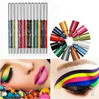 12x Colors Glitter Eye Shadow Eyeliner Lip Liner Pencil Pen Cosmetic Makeup