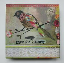 "zzV Trust the Journey bird KELLY RAE ROBERTS 6"" canvas print wall art"