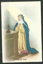 Postal antigua de Santa Rosa de Lima andachtsbild santino holy card santini