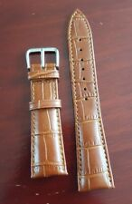 New High Quality Men's Croc Leather Brown Watchstrap 22 mm