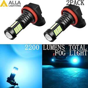 Alla Lighting 2x H11 H8 3030 36-LED Fog Light Driving Bulbs Lamps,Ice Blue 8000K