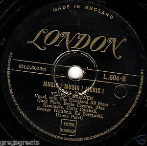 1950 #1 Teresa Brewer 78 Musica! Musica! Musica Copenhagen Oro London L604 E