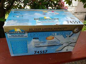 """Indoor Outdoor Fan   White Sundance 42"""" 5-Blade Ceiling Fan"""