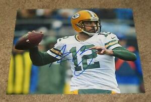 AARON RODGERS SIGNED AUTOGRAPHED GREEN BAY PACKERS 8X10 PHOTO #1 (PROOF) SB MVP