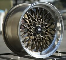 15x8 MST MT16 4x100 +20 Bronze w/Machined Lip Wheels (Set of 4)
