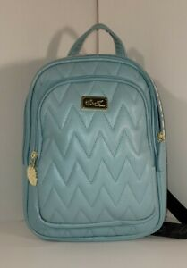 Luv Betsey Johnson Quilted /Teal blue,Quilted Backpack travel,overnight