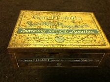 Vintage RARE Garfield's Seidlitz Powders Sparkling Antacid Laxative Medicine Tin