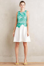 1a3093cae2b5 NWT Anthropologie Arbor Lace Dress by Moulinette Soeurs Size 12/L Green  White