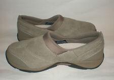 Easy Spirit Women's 7.5 W ESEVERYTHING Slip-On Shoes Dark Taupe Leather Upper