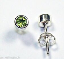 Ohrringe / Ohrstecker aus Silber 925 mit echtem Peridot  / Sterlingsilber