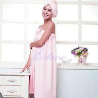 New 145x75cm Women Absorbent Microfiber Fleece Shower Spa Body Wrap Bath Towel