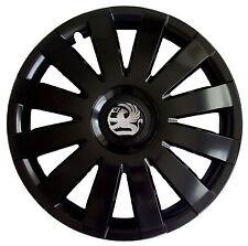 """4x16'' rifiniture ruota Hub Caps per Vauxhall Astra 16"""" NUOVO Matt Nero"""