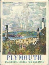 PLYMOUTH 1956 Official Guide history information illustrated business adverts