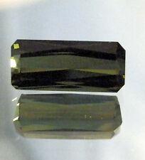Natural green tourmaline...quality gemstone..emerald cut ..7.48 Carat