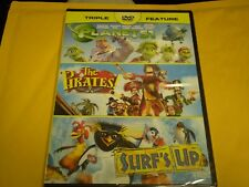 The Pirates Band of Misfits/Planet 51/Surfs Up (DVD, 2014)  Brand NEW  All 3!!