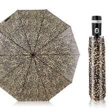 Leopard Print Umbrella Automatic Windproof Sun/Rain UV Protection Fold Parasol