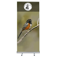 Economy Retractable Roll Up Banner Stand with Custom Vinyl Banner