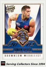 2015 Select AFL Honours S2 Brownlow Gallery Card BG93 Simon Black (Brisbane)